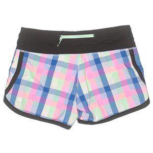 Lululemon Groovy run POP Plaid shorts Multi sz 6